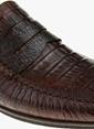 George Hogg %100 Deri Loafer Ayakkabı Kahve
